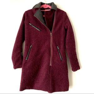Asos Teddy Leather Collar Coat Jacket